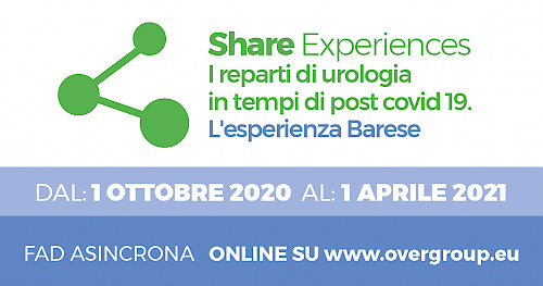 Share Experiences.  I reparti di urologia  in tempi di post covid 19.  L'esperienza Barese